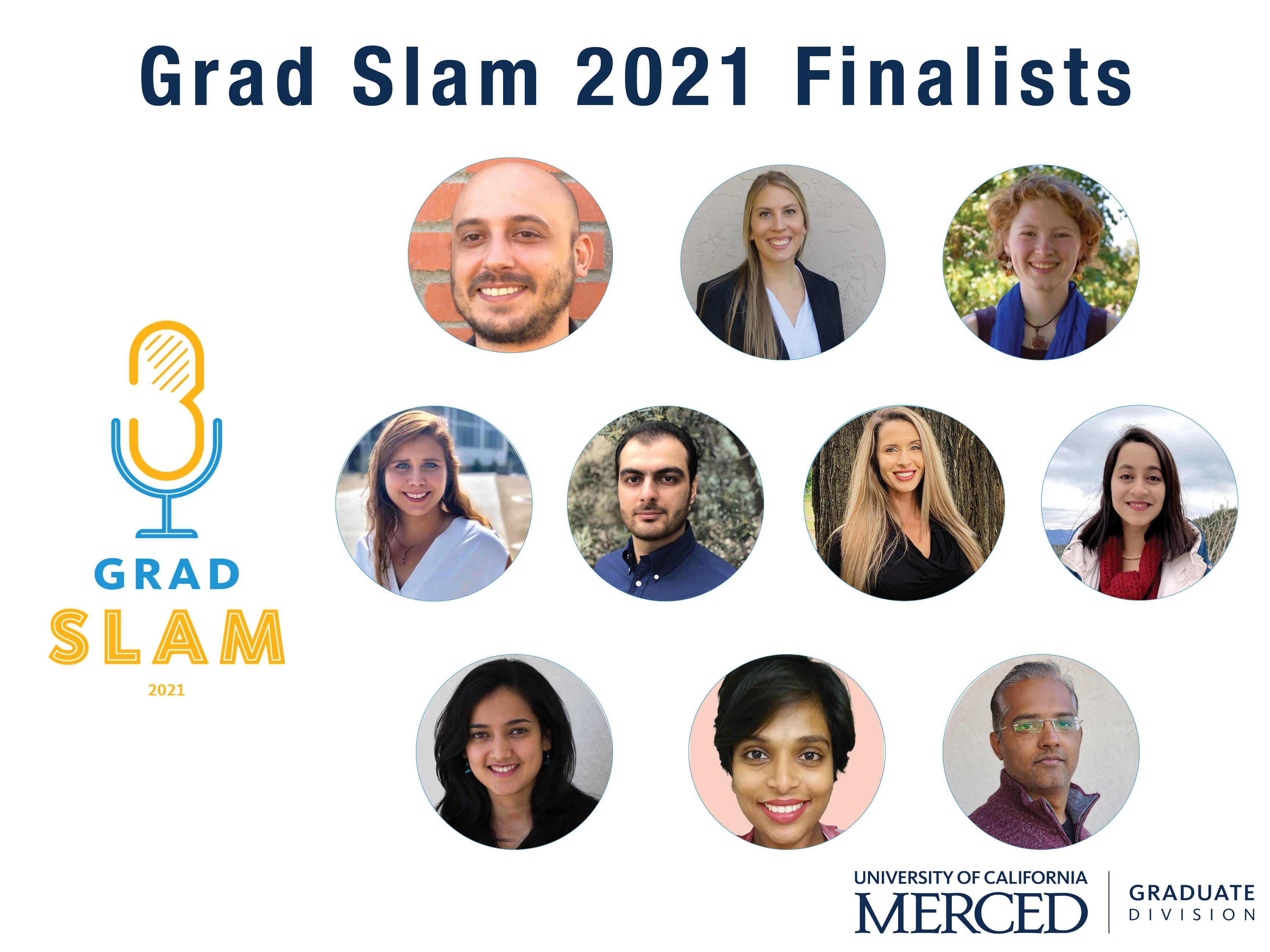 10 graduate student finalists for Grad Slam