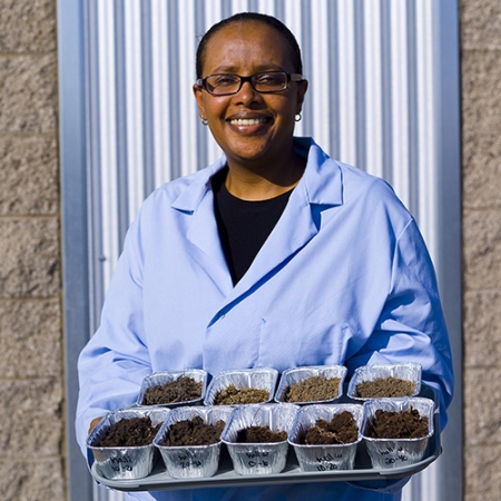 Berhe and her most studied matter: soil.