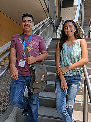 Ninth graders Cesar Angel and Araceli Hernandez are ready to take on the challenges of a new school year after they spent four weeks in an intensive math program at UC Merced.