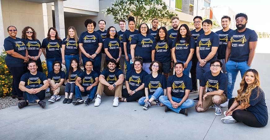 Competitive Edge Summer Bridge participants and mentors