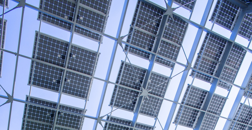 Solar panels on the UC Merced campus.