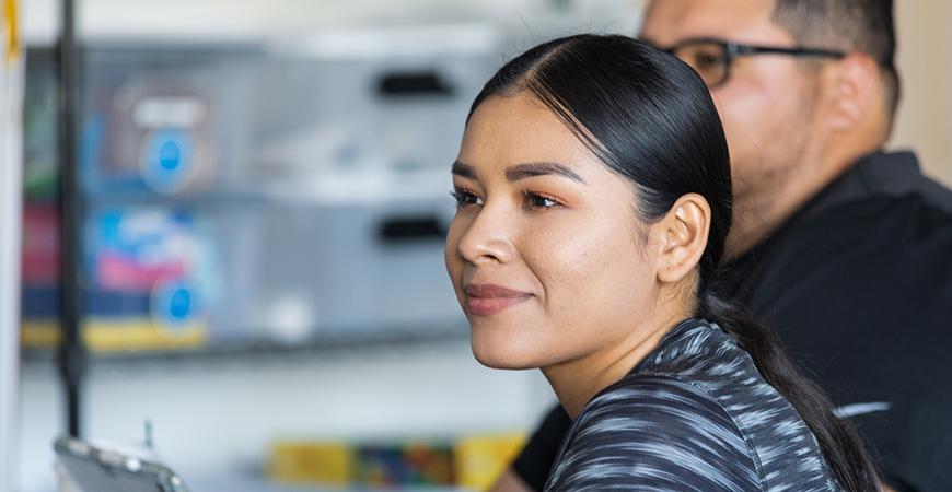 Brenda Carlos Aranda, a teacher at Farmdale Elementary School, earned her multiple subject credential at UC Merced.