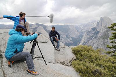 Filming in Yosemite