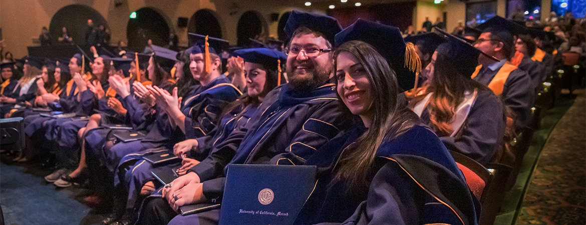 UC Merced master's and Ph.D. candidates at Fall Commencement
