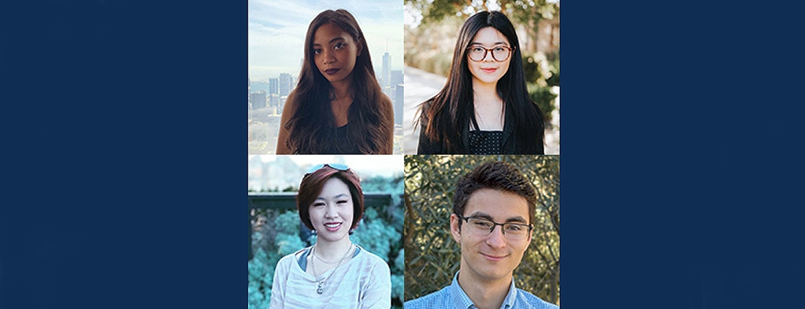 Two UC Merced Ph.D. students, a recent undergraduate and an alumna have each been awarded a National Science Foundation (NSF) Graduate Research Fellowship (GRFP).